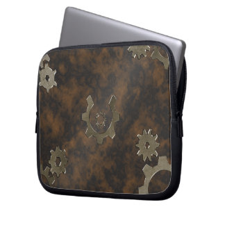 Steampunk Rust and Bronze laptop sleeve
