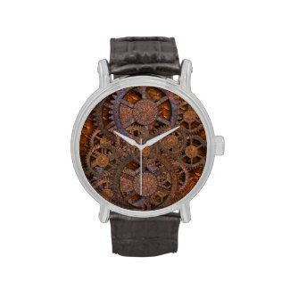 Steampunk Rusty Cogs Watches