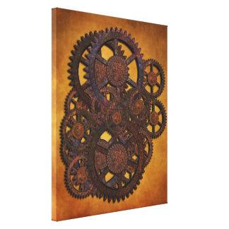 Steampunk Rusty Gears Canvas Print