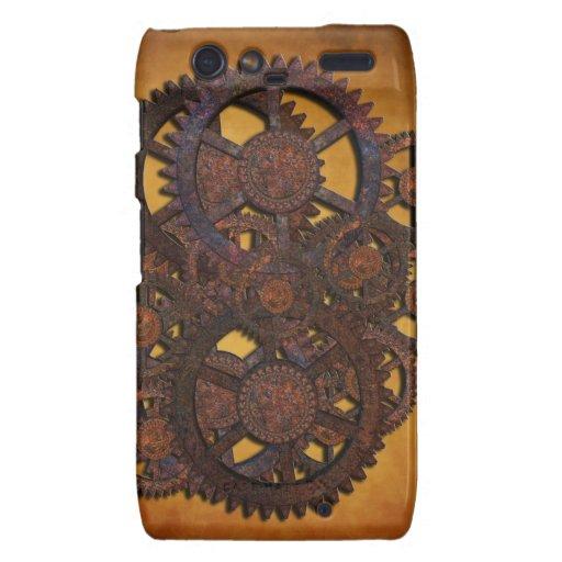 Steampunk Rusty Gears Droid RAZR Cases