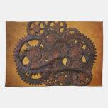 Steampunk Rusty Gears Kitchen Towel