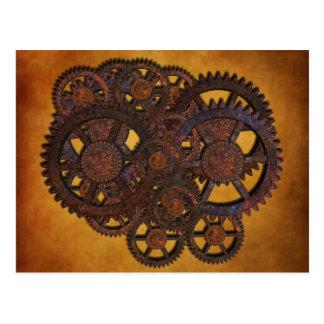 Steampunk Rusty Gears Postcard