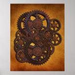 Steampunk Rusty Gears Poster