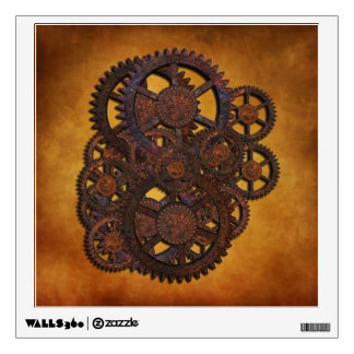 Steampunk Rusty Gears Wall Sticker