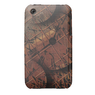 Steampunk Rusty Grungy Textured Clock Faces Case-Mate iPhone 3 Case