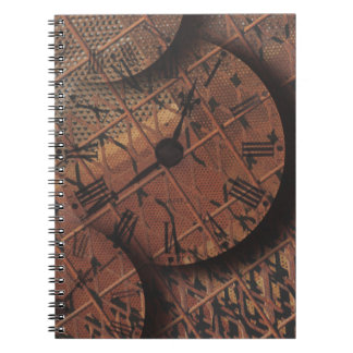 Steampunk Rusty Grungy Textured Clock Faces Spiral Notebook