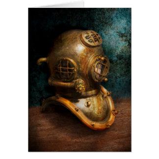 Steampunk - salto - el casco del salto tarjeton