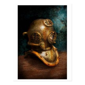 Steampunk - salto - el casco del salto tarjeta postal