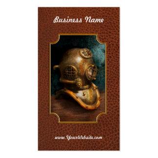Steampunk - salto - el casco del salto tarjetas de visita