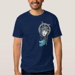Steampunk Samurai Girl with Dragon T-Shirt