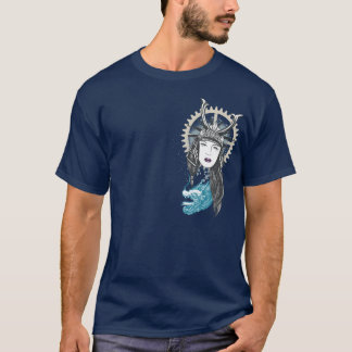 Steampunk Samurai Girl with Dragon T-Shirt
