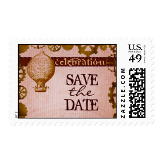 STEAMPUNK save the date theme stamps