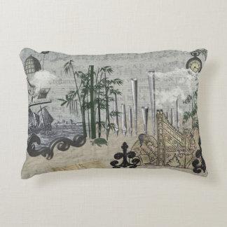Steampunk Scenario Organ Pipes Fantasy Elements Decorative Pillow