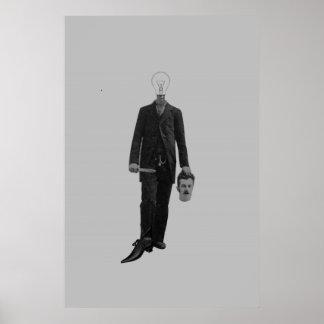 Steampunk Science Fiction Robot Cyborg Murder Poster