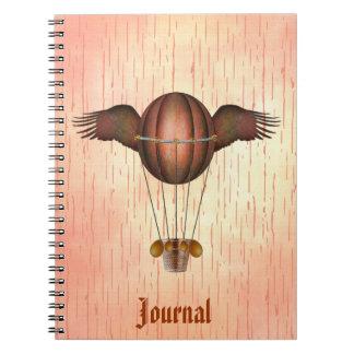 Steampunk se fue volando el diario del globo spiral notebook