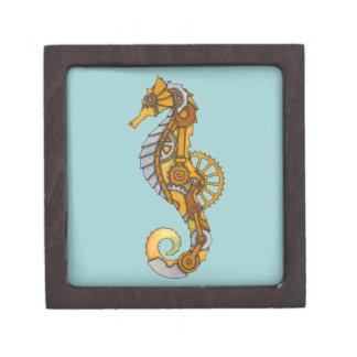 Steampunk Seahorse Keepsake Box