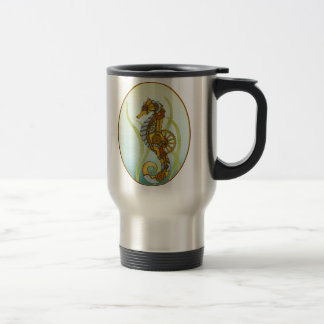 Steampunk Seahorse 15 Oz Stainless Steel Travel Mug