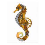 Steampunk Seahorse Postcards
