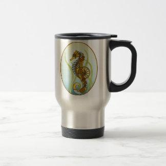 Steampunk Seahorse Travel Mug