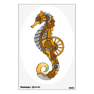 Steampunk Seahorse Wall Decal