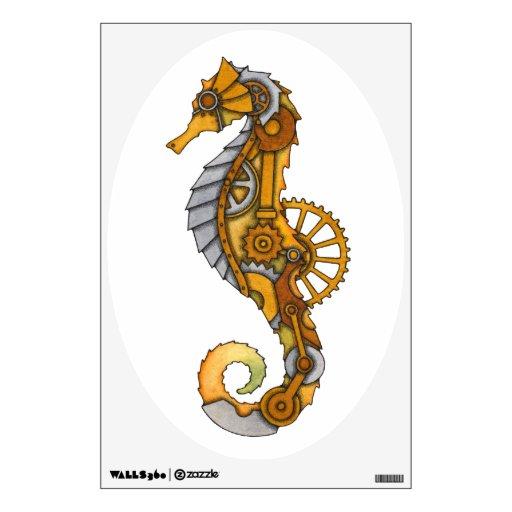 Steampunk Seahorse Wall Decor