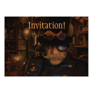 """Steampunk Sean 5"""" X 7"""" Invitation Card"""