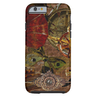 Steampunk Sextant & Compass & Gramophone Watch Tough iPhone 6 Case