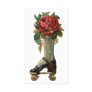 Steampunk Shoe Skate Canvas Print