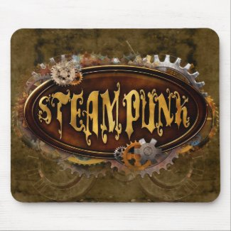 Steampunk Sign Mousepad