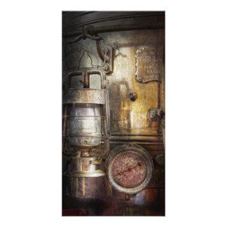 Steampunk - Silent into the night Custom Photo Card