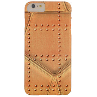 Steampunk Simulated Metal Background With Rivets Barely There iPhone 6 Plus Case