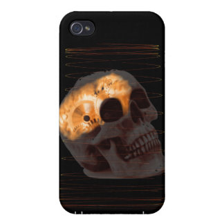 Steampunk skeleton skull machinery cogs rust covers for iPhone 4