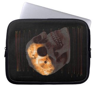 Steampunk skeleton skull machinery cogs rust laptop sleeve
