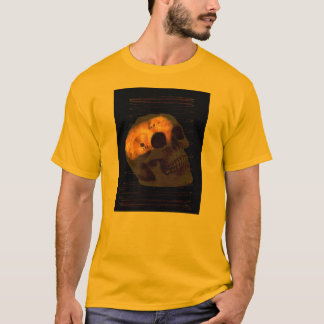 Steampunk skeleton skull machinery cogs rust T-Shirt