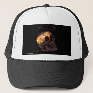 Steampunk skeleton skull machinery cogs rust trucker hat