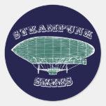 Steampunk Skies Classic Round Sticker