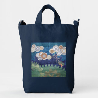 Steampunk Skies - customize! Duck Canvas Bag