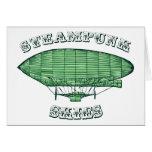 Steampunk Skies Greeting Card