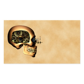 Steampunk Skull Business Card