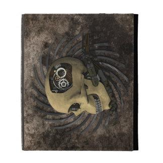 Steampunk Skull iPad Folio Case