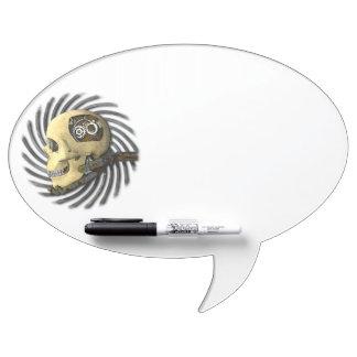 Steampunk Skull Dry-Erase Board