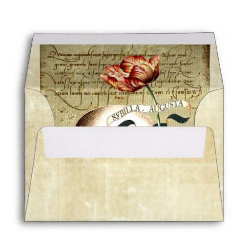 Steampunk Skull Floral Halloween A6 Envelope