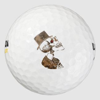 Steampunk Skull Golf Balls