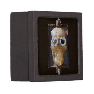 Steampunk Skull Keepsake Box