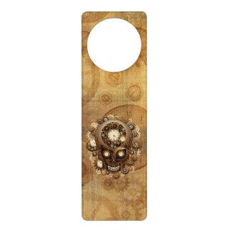 Steampunk Skull Vintage Style Door Hangers