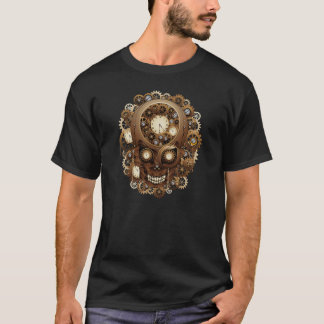 Steampunk Skull Vintage Style T-Shirt