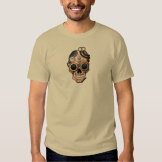 Steampunk Skull with Goggles Tee Shirt