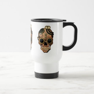 Steampunk Skull with Goggles Travel Mug