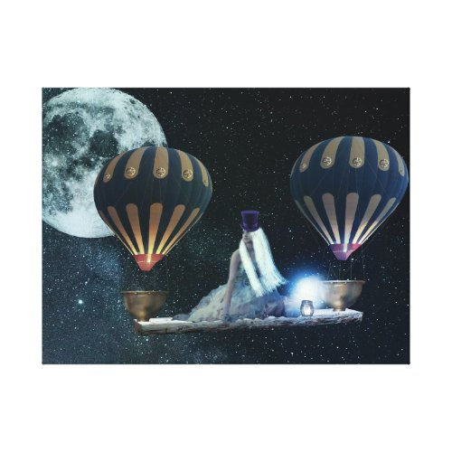 Steampunk Sky Traveller Canvas print