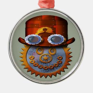 steampunk smiley metal ornament
